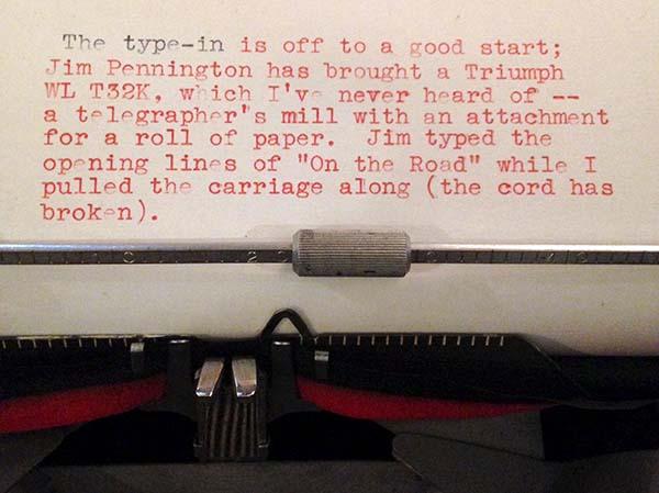 type writer paper