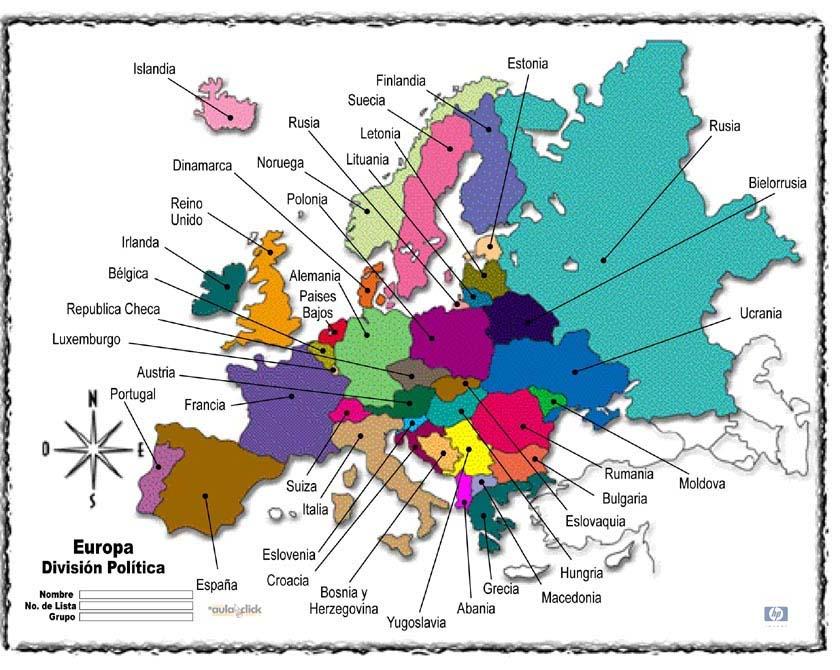 Juego Capitales Europa Mapa