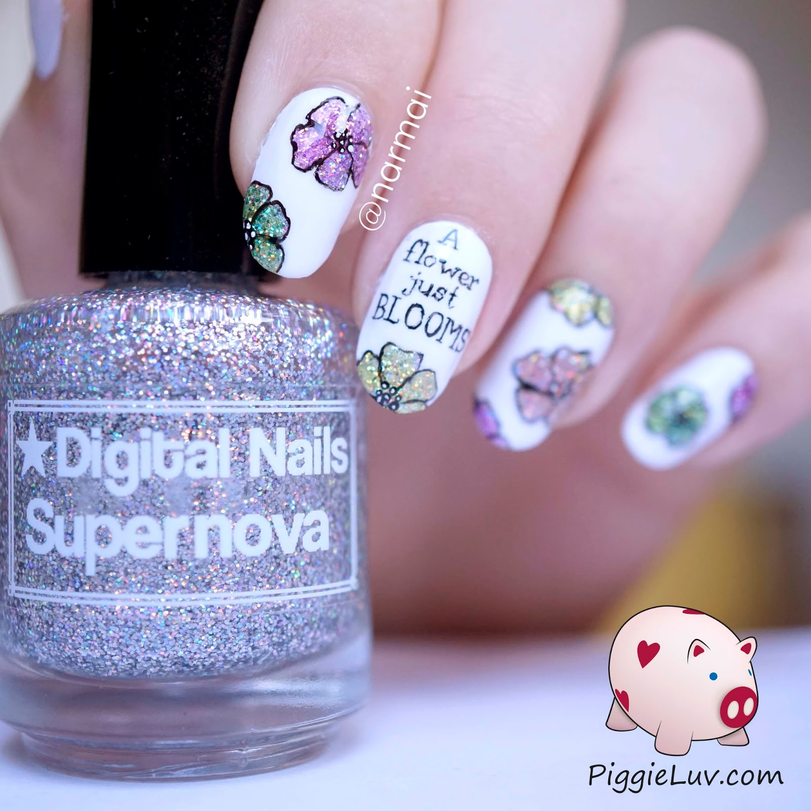 Totoro Nail Art Tutorial For The Glitter, I First Used Gosh Holographic  Hero To Make