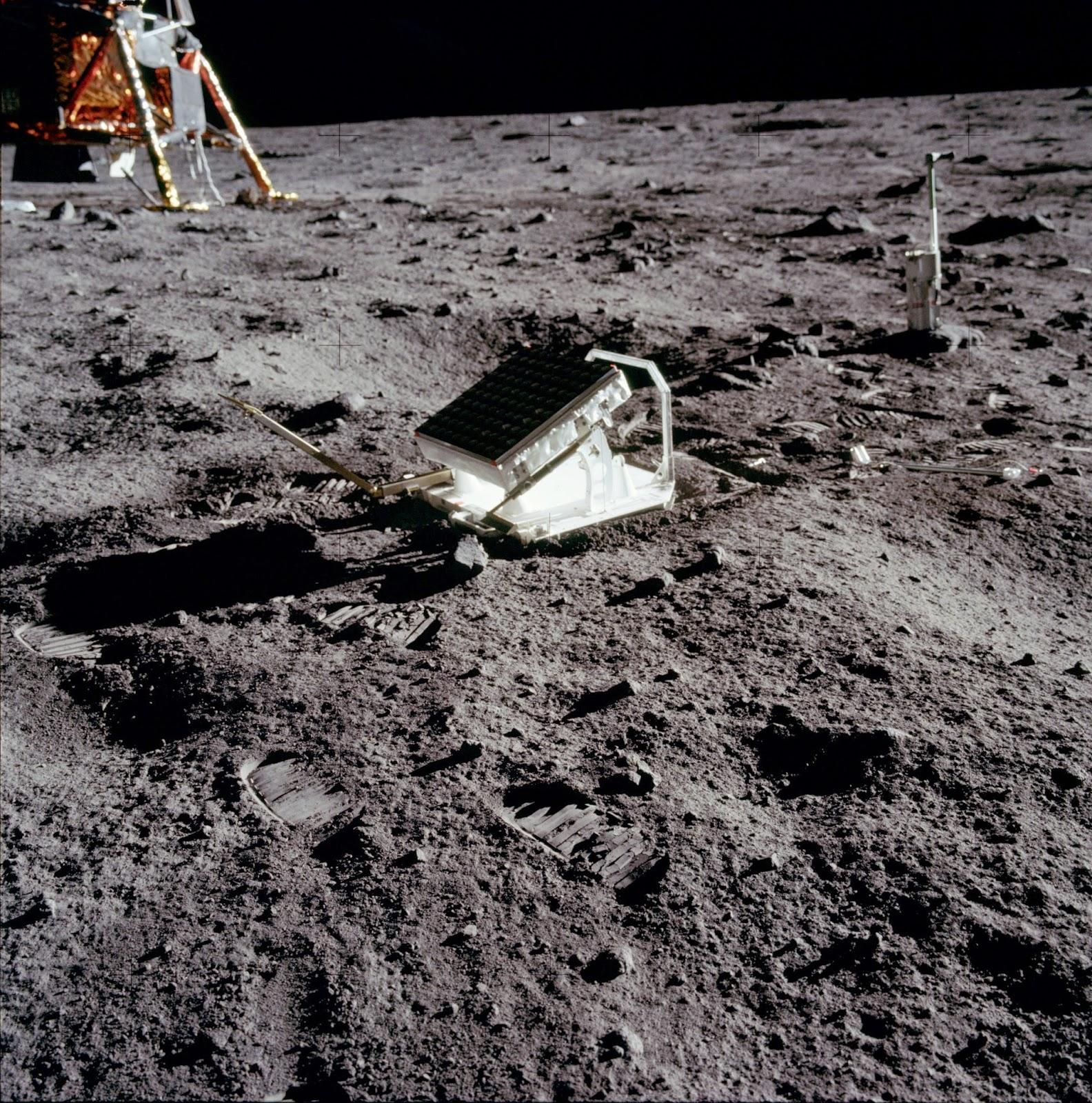 Retroreflector colocado por la misión Apolo 11.