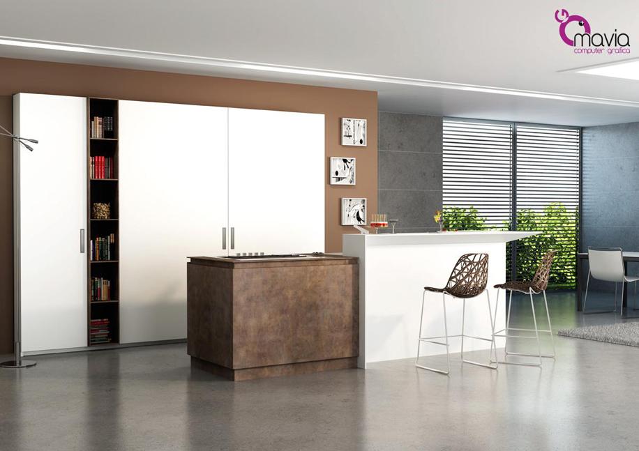 Arredamento di interni arredamento 3d cucine moderne - Ambientazioni cucine moderne ...