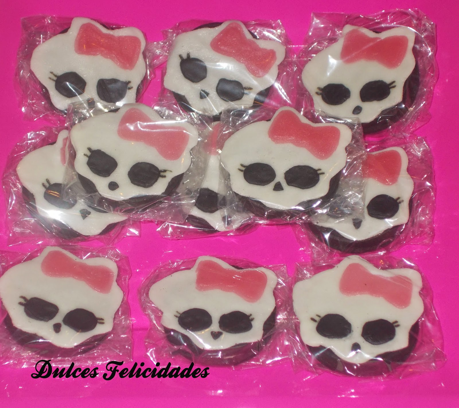 Galletas oreo decoradas Monster High