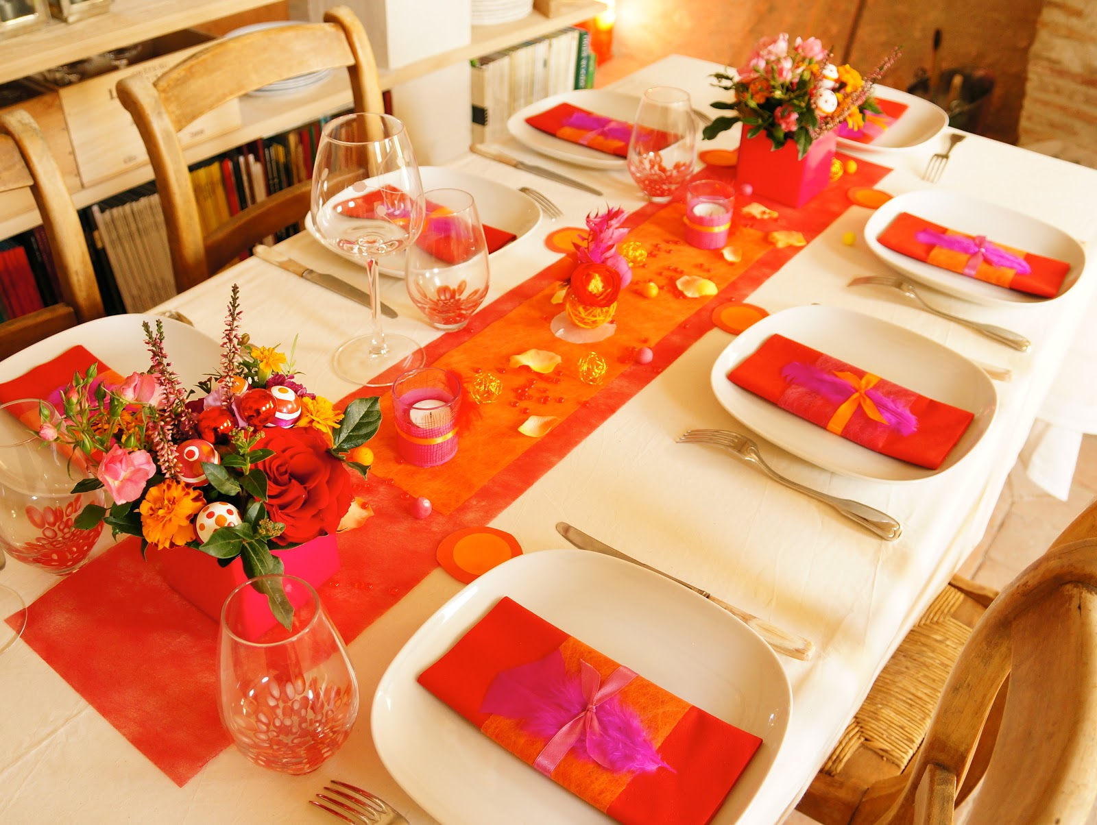 Ma boutique d co table d coration de table un no l color for Decoration lumignon 8 decembre