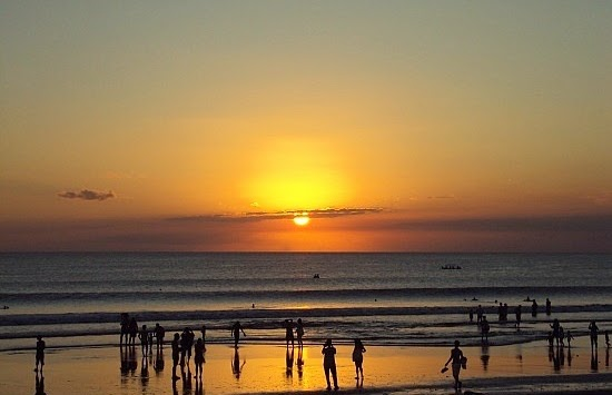 The Beauty Sunset In Kuta Beach, Bali