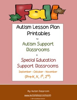 Fall Printables for Autism Support Classrooms
