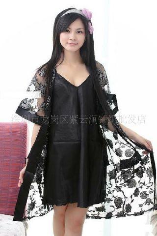 gambar Kimono Lingerie SL1210 Hitam