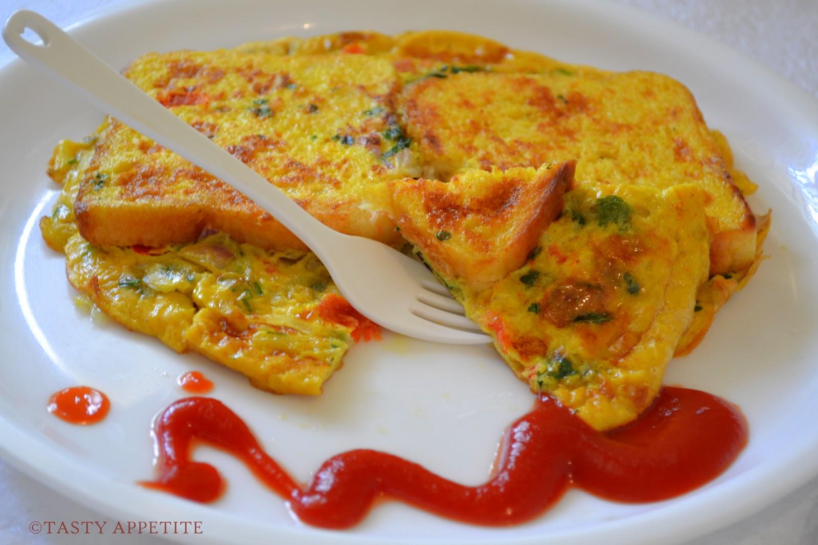 bread omelet healthy breakfast menu step by step