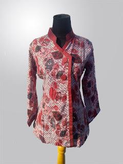 Foto Baju Batik Dress Lengan Panjang