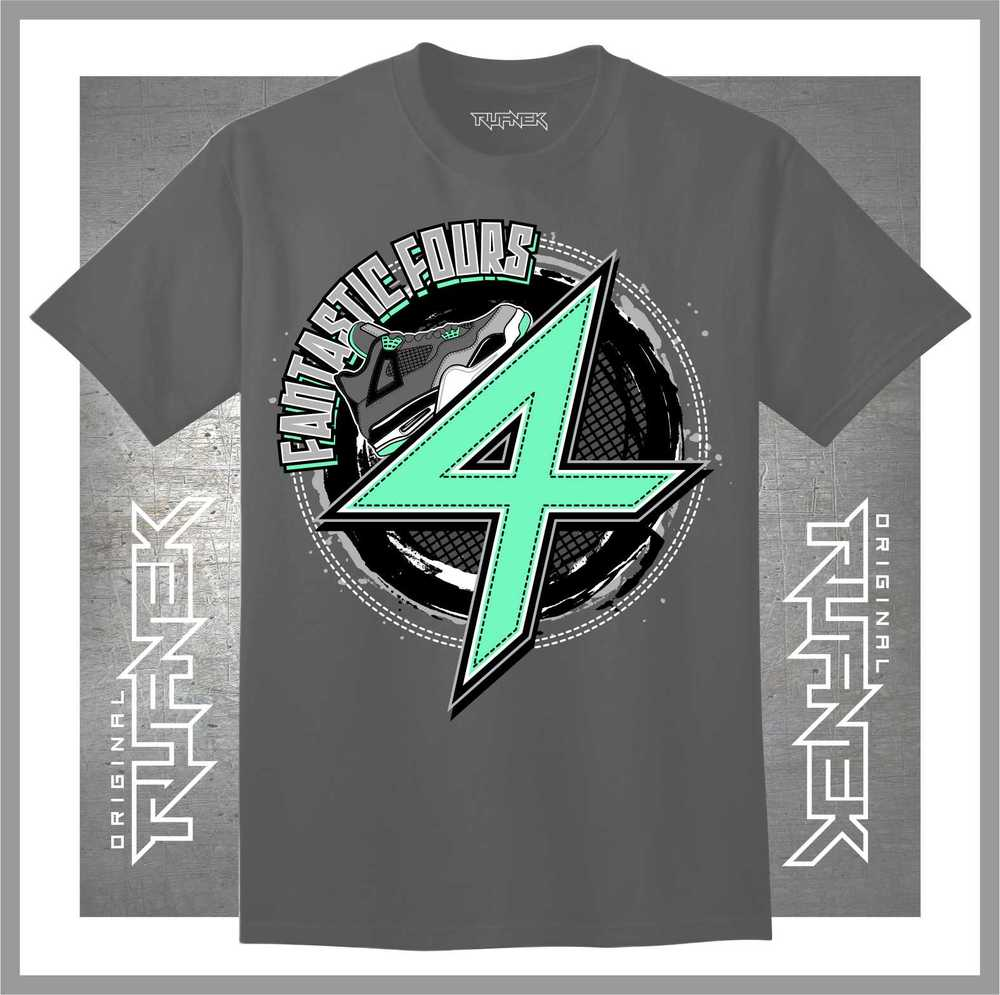 "Jordan Retro 4 ""Green Glow"" T-Shirts to Match | Jordan ..."
