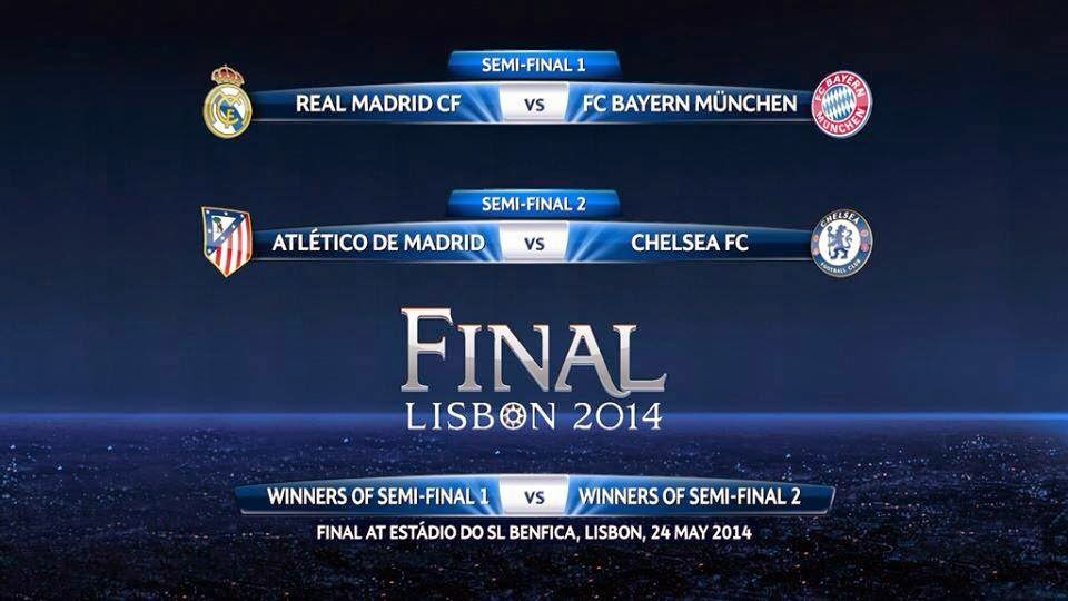 Así quedaron Semifinales Champions League