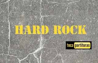 Hard Rock Partitura de Batería fácil para principiantes Rock Duro Sheet Music for Battery and Drums