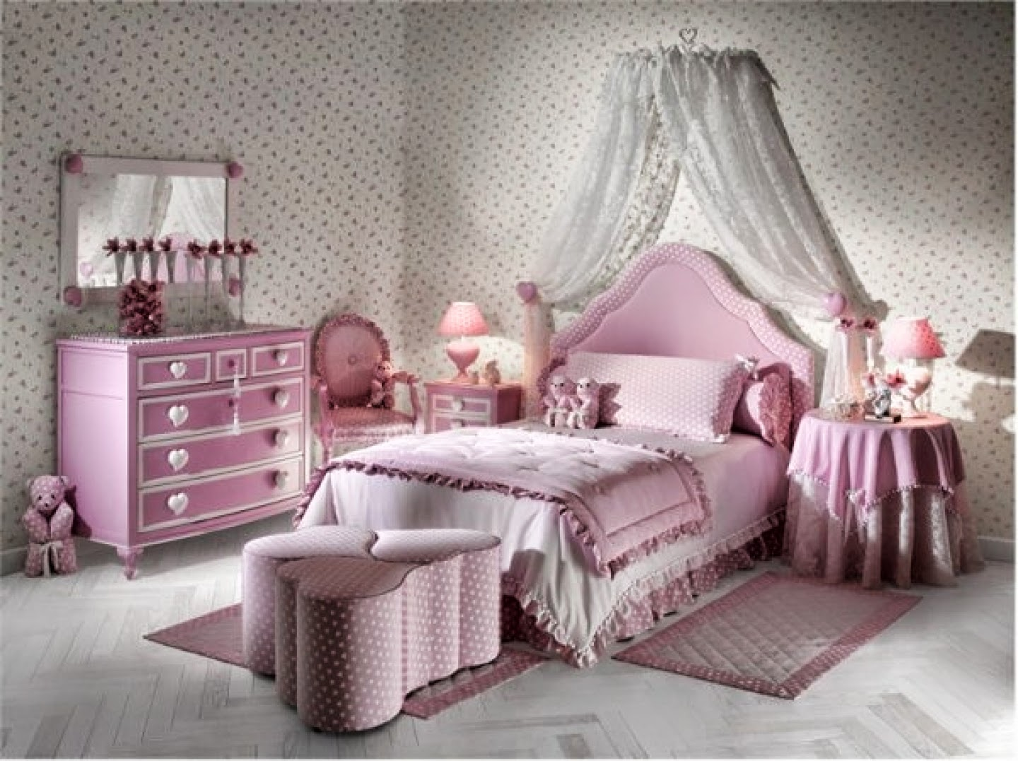 ... #5 Trendy Bedroom Interior Pink Purple Teenage Girl Design Trendy Bedroom  Interior Pink Purple Teenage ...