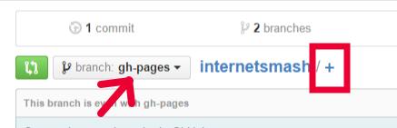 GitHub plus button