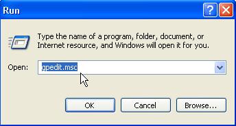 membuka menu run