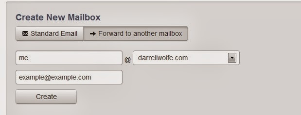 Screen Shot of Domain.com setting up your personalized new email