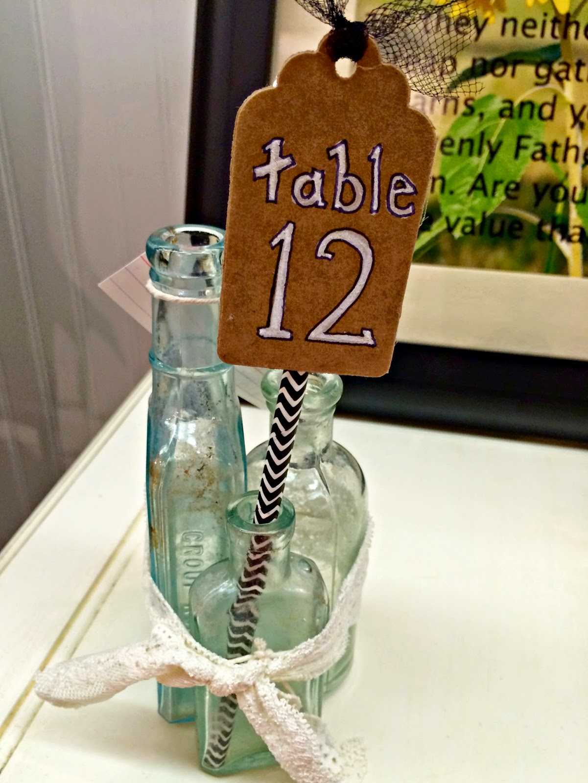 Table Numbers Cardboard Tags Outside the Box Papers