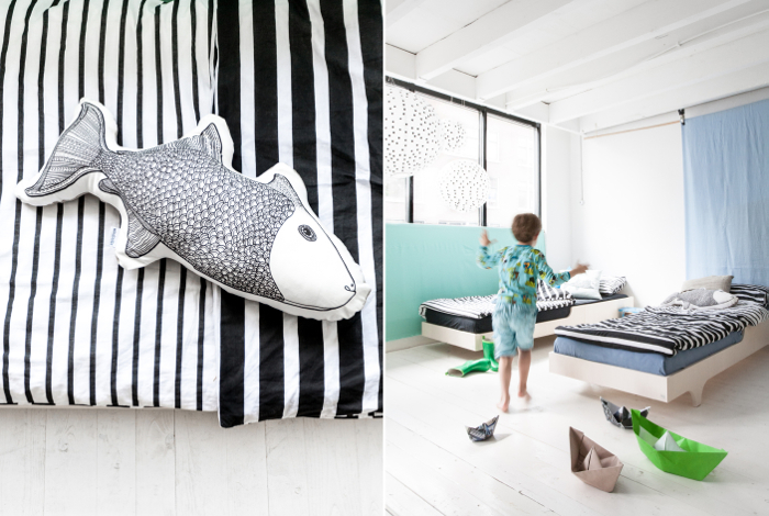 fish pillow from Femke Veltkamp / Windstilte & Rafa-kids A teen bed