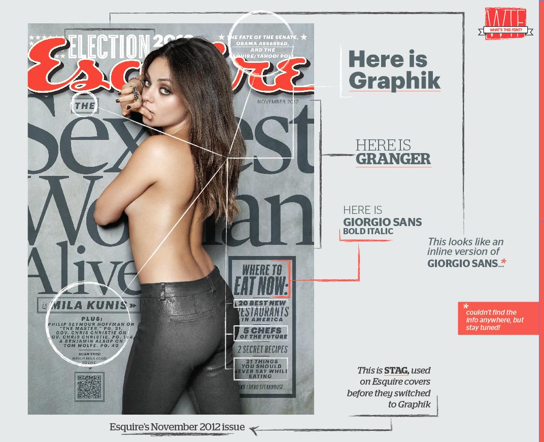 joanna behar: What's This Font 1.0 - Esquire