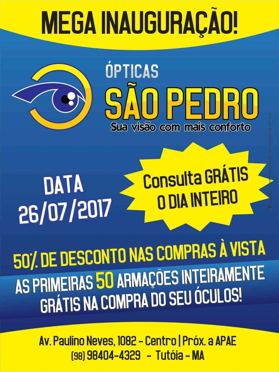 ÓPTICAS SÃO PEDRO