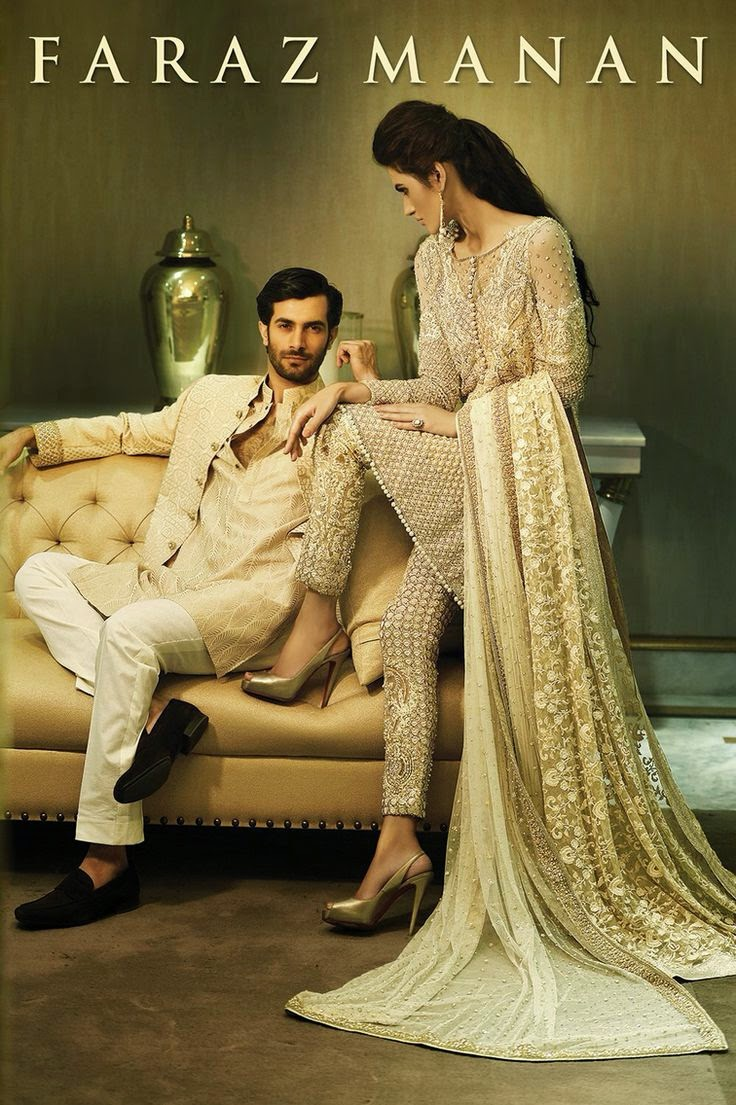 new bridal and groom dresses collection by faraz manan