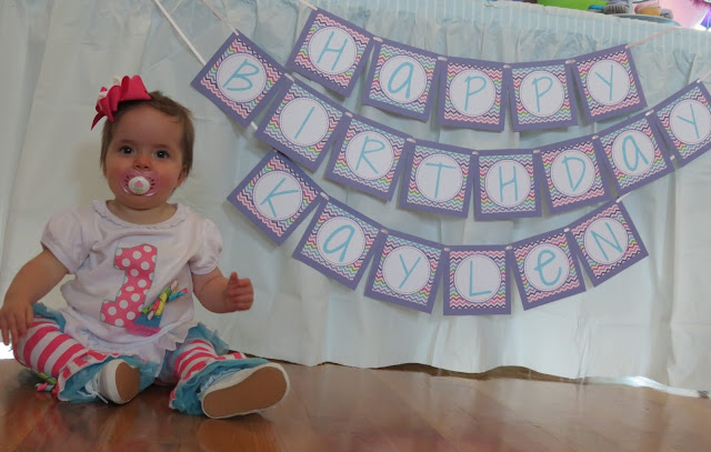 rainbow chevron birthday banner