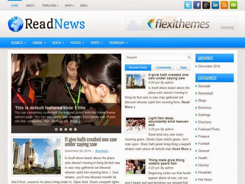 ReadNews - Free Wordpress Theme