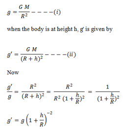 Variation Of G Due To Height Altitude Reference Notes - Altitude and height
