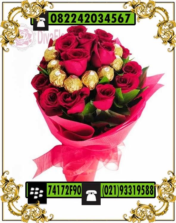 buket cokelat & bunga