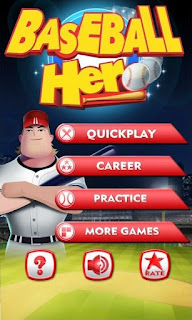 Screenshots of the Baseball Hero for Android tablet, phone.