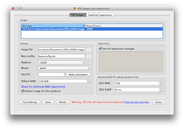 MacユーザのためのGNS3(Dynamips)設定方法 基本編