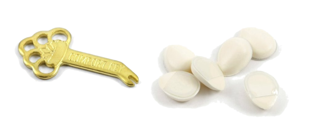 Comfort Key For Adjusting Clip On Earrings Slide Foam Cushion Backs