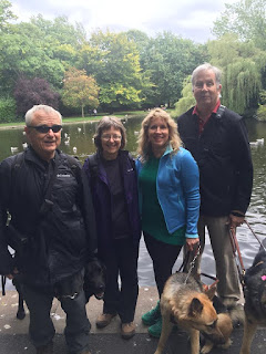Bob, Sue, Gena and Mike at Stephens Green Park