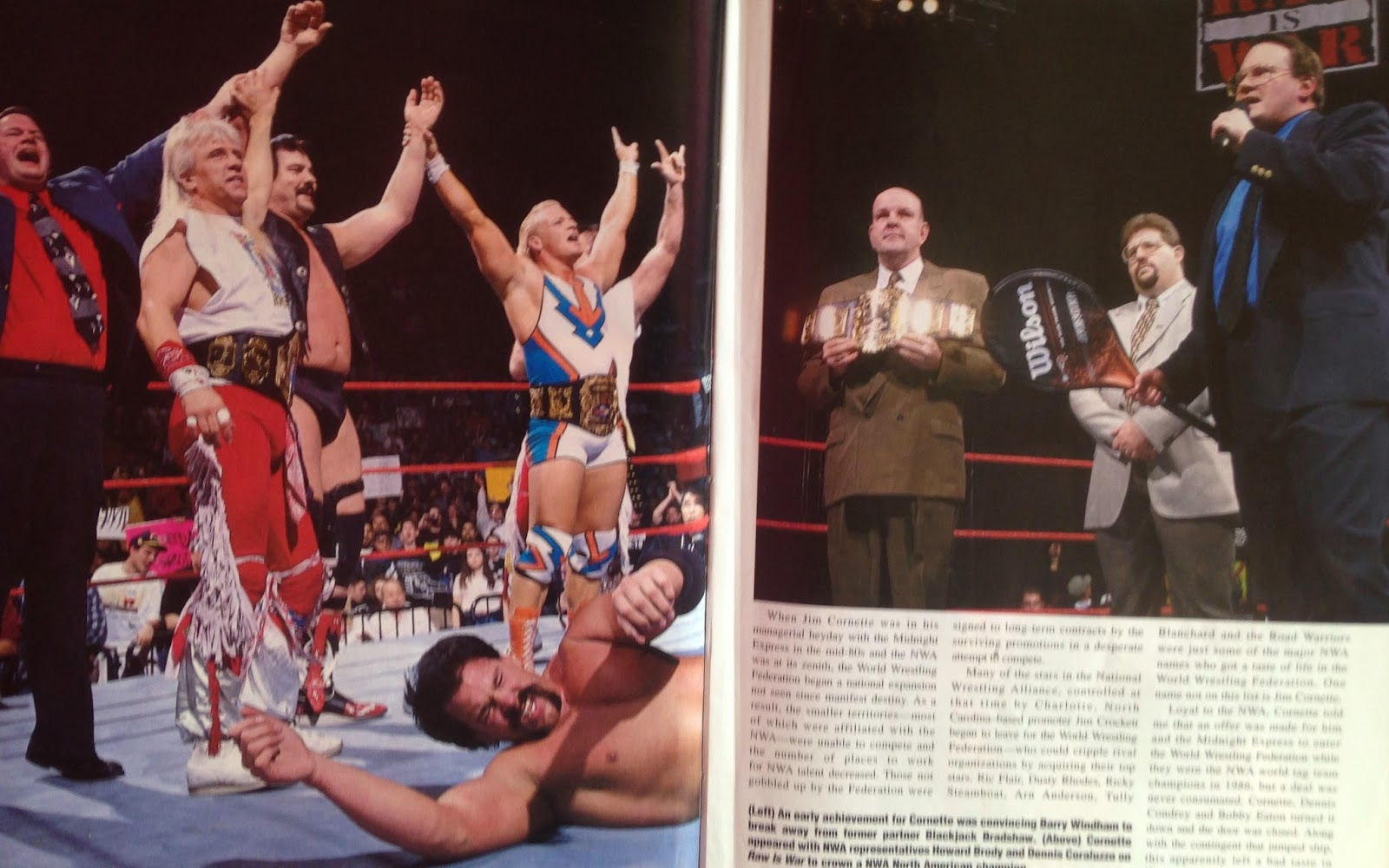 WWE - WWF Raw Magazine - April 1998 -  Jim Cornette leads an NWA revival