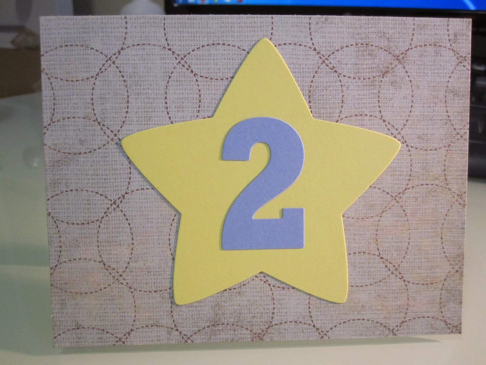 Bernmakes Handmade Cards By Bern 2nd Birthday Card Cardmageddon 1