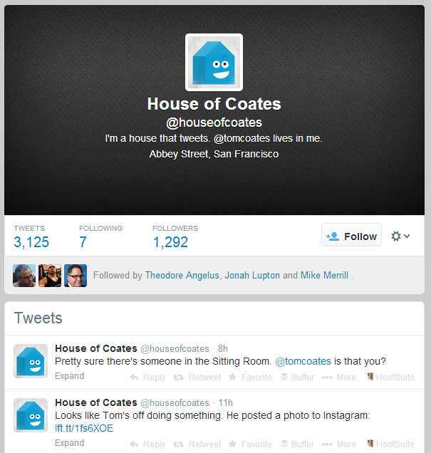 A house that tweets is just one surprise thing you can do on Twitter