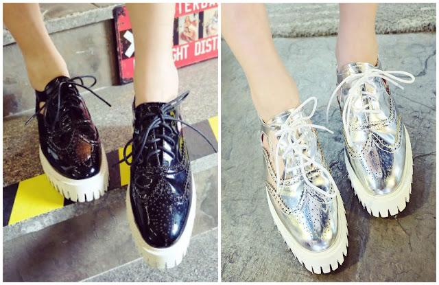 pantofi cu talpa groasa choies