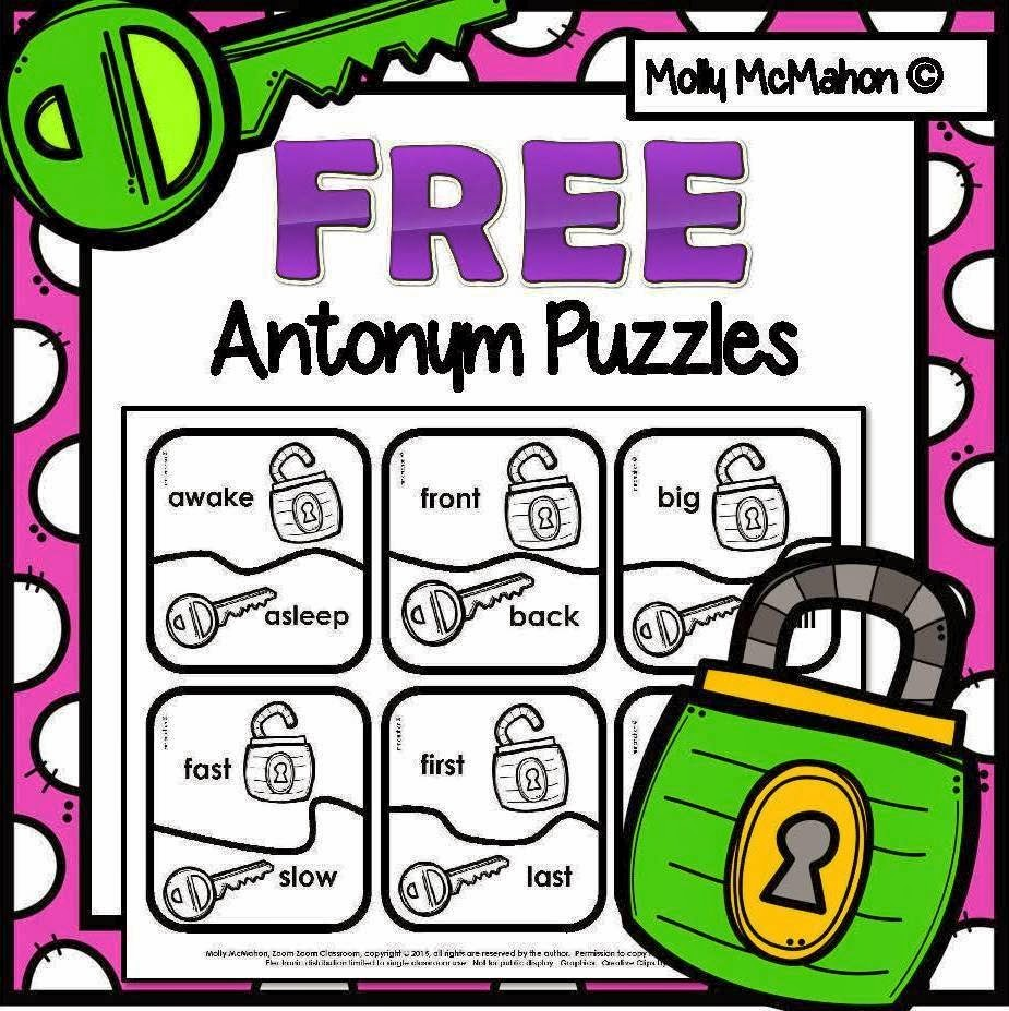 https://www.teacherspayteachers.com/Product/antonyms-puzzles-free-1822437