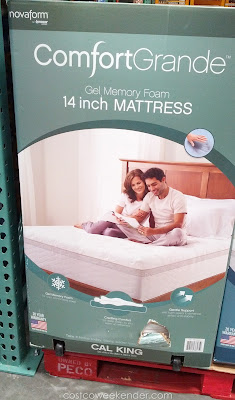 Rest easy with the Novaform ComfortGrande Cal King Mattress Gel Memory Foam