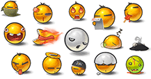 Not so emotional emoticons