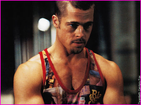 Latest Hollywood Hottest Wallpapers: Brad Pitt Fight Club Body