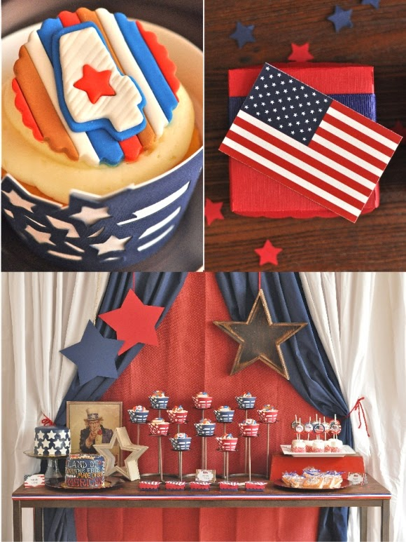 4th Of July party table Bird's Party Creative Juice