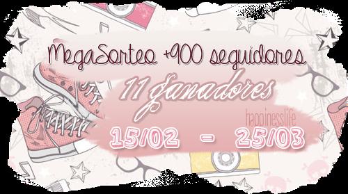 http://yourhappinesslife.blogspot.com.es/2015/02/megasorteo-900-seguidores-11-ganadores.html?showComment=1424104107892#c6574810232244388890