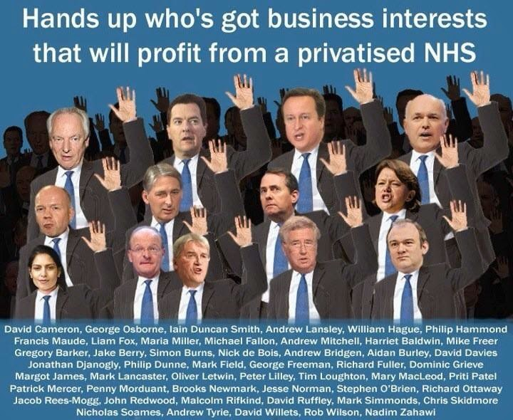 Tory Interests in Privatised NHS
