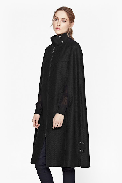 french connection black cape