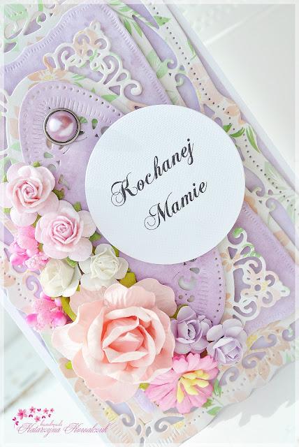 kartka z okazji dnia matki scrapbooking