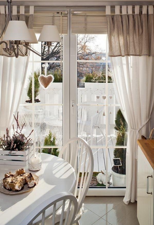 Pembe yast k ev dekorasyonu blogu ve dekorasyon - Cortinas para casa de campo ...