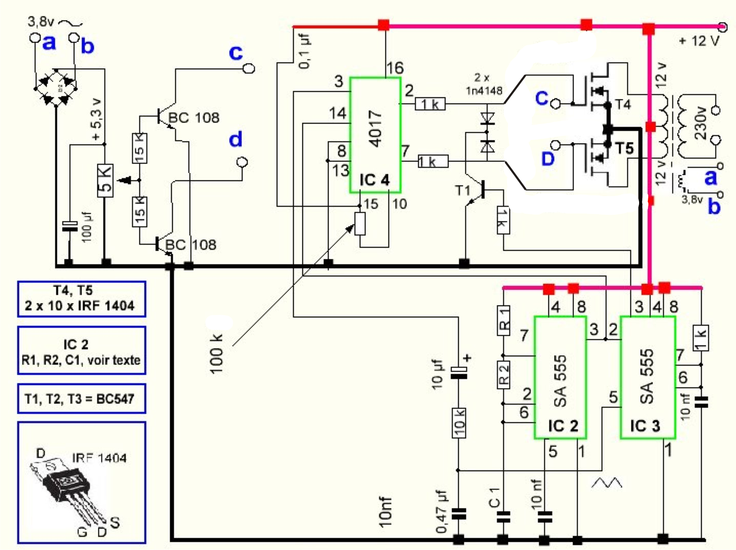 Secret Diagram  More Circuit Diagram For Inverter