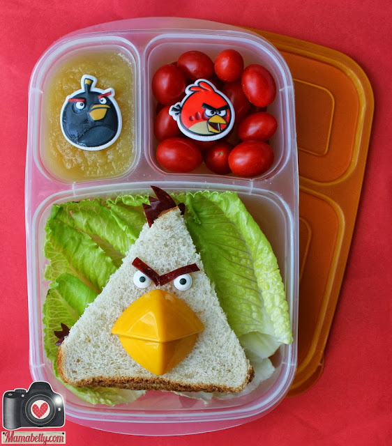 Yellow Angry Bird Lunch in Easylunchboxes - www.mamabelly.com