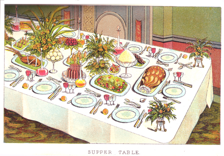 Sandie James A Victorian Christmas Dinner For 18 Persons