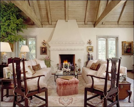 Eye for design decorating tudor style - English style interior design rigor and comfort ...